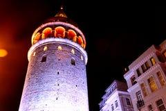 历史加拉塔塔,伊斯坦布尔特写镜头 库存照片