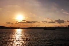 历史半岛是公认的伊斯坦布尔的一个重要旅游区 免版税库存照片