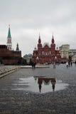 历史博物馆和列宁的陵墓在莫斯科,俄罗斯 免版税库存照片