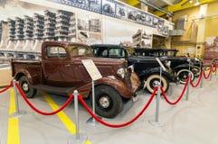 历史博物馆的减速火箭的汽车展览,俄罗斯, Ekaterinburg, 04 03 2017年 库存图片