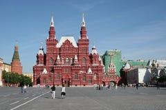历史博物馆的看法红场的在莫斯科 免版税库存图片