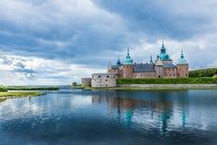 历史卡尔马城堡在瑞典斯堪的那维亚欧洲 地标 库存照片