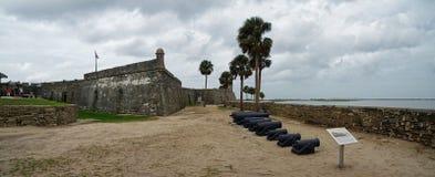 历史卡斯蒂略de圣马科斯在圣奥斯丁,佛罗里达,美国 库存图片