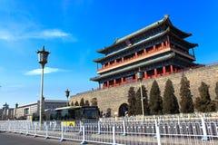历史和现代城市 北京瓷 免版税库存照片