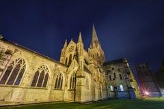 历史和美丽的奇切斯特大教堂 免版税库存图片