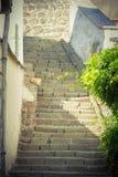 历史和老石大厦和楼梯 库存图片