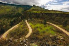 历史哥伦比亚河峡谷高速公路 库存图片