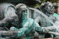 历史喷泉,科布伦茨 免版税库存照片