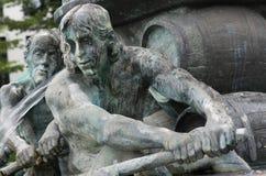历史喷泉,科布伦茨 库存照片