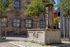 历史喷泉 免版税库存图片