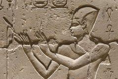 历史埃及象形文字 免版税库存照片