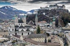 历史城市萨尔茨堡 免版税库存照片