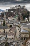历史城市萨尔茨堡 免版税库存图片