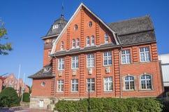 历史城镇厅在帕彭堡的中心 免版税库存图片