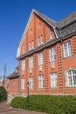历史城镇厅在帕彭堡的中心 库存图片