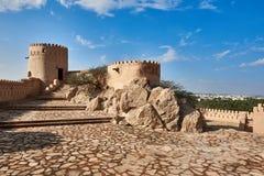 历史堡垒在阿曼 免版税库存照片