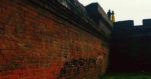 历史墙壁  免版税库存图片