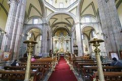 历史墨西哥城城市居民大教堂 免版税库存图片