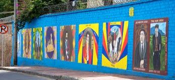 历史壁画的波哥大哥伦比亚 免版税图库摄影