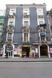 历史大厦在卡塔尼亚,西西里岛的历史的中心 意大利 免版税库存图片