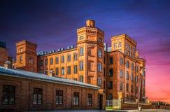 历史大厦在市罗兹,波兰 免版税库存图片