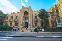历史大厦在开罗,埃及 库存照片
