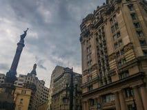 历史大厦在São保罗,巴西一个重要区域  库存图片