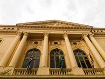 历史大厦在São保罗,巴西一个重要区域  免版税库存图片