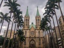 历史大厦在São保罗,巴西一个重要区域  免版税库存照片