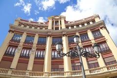 历史大厦看法在马德里 图库摄影