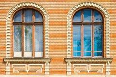 历史大厦门面,细节 库存照片
