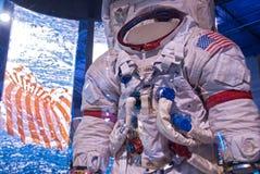 历史太空人宇航员太空服博物馆 免版税库存图片