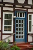 历史小镇美丽的景色在德国温豪森 免版税库存照片
