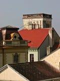 历史屋顶上面 免版税库存图片