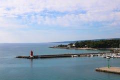 历史市在海岛Krk上的Krk在亚得里亚海,克罗地亚 库存照片