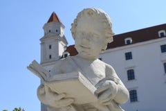 历史布拉索夫城堡塔  免版税库存图片