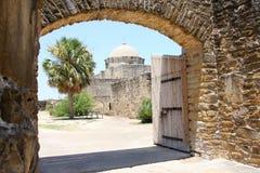 历史建筑任务入口  免版税库存照片