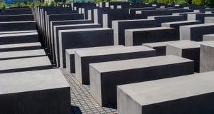 历史建筑在柏林:对欧洲的被谋杀的犹太人的纪念品 库存图片