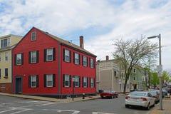历史建筑在Charlestown,波士顿,麻省,美国 免版税图库摄影