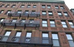 历史建筑Massachusettes国家的街市剑桥的美国 库存照片