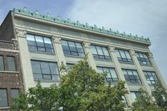 历史建筑Massachusettes国家的街市剑桥的美国 免版税库存照片