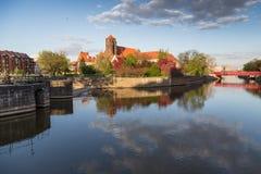 历史弗罗茨瓦夫中心 免版税库存图片