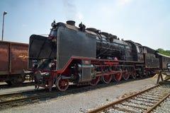 历史德国蒸汽火车06-018 库存图片