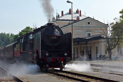 历史德国蒸汽火车06-018 图库摄影
