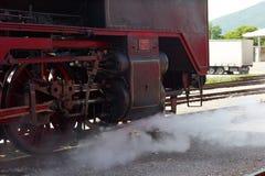 历史德国蒸汽火车06-018 免版税库存图片