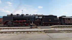 历史德国蒸汽火车06-018 免版税库存照片