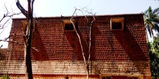 历史房子后侧方神色股票图象 库存照片