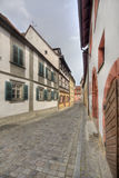 历史房子在琥珀,德国 库存照片