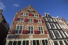 历史房子在阿姆斯特丹 免版税库存照片