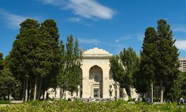 历史房屋管理阿塞拜疆铁路 库存图片